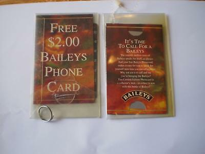 Baileys Phone Card $2 X 2  As Issued At Duty Free On Baileys Bottles V4
