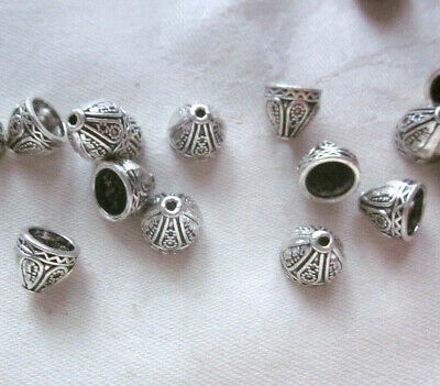20 Antique Silver Coloured Cone Bead Caps 9mm x 7mm #bc3280 Jewellery Making