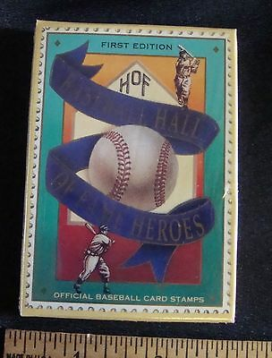 1st Edition HOF Baseball Hall of Fame Heroes Card Stamps Sealed NIB