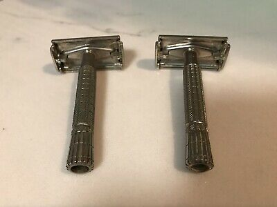 Vintage 1958 GIllette Super Speed Double Edge Razor D 2 (Lot Of 2)