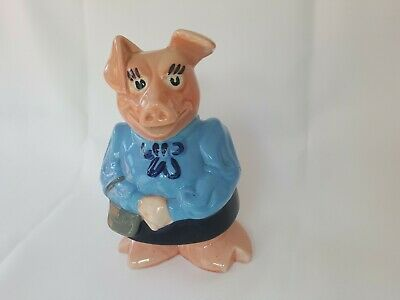 """Vintage Wade """"Lady Hilary"""" (Mummy)  Natwest Pig With Original Stopper"""