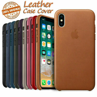 US Original Leather Case for iPhone XS XR XS Max Genuine PU OEM Phone Case Cover