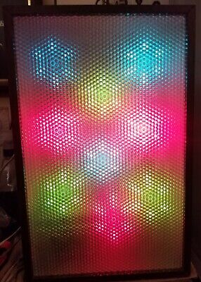 Vintage 1970s Stereo Color Organ Psychedelic Light - Works Sensitivity Control