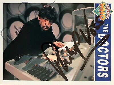 Dr Doctor Who Cornerstone Trading Card Signed by Richard Ireson and Philip Voss
