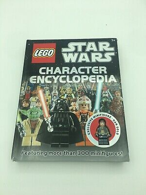 LEGO Star Wars Character Book Encyclopedia and Minifigure USED