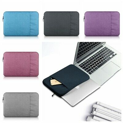 """For Macbook Air Pro Lenovo Dell 11-15"""" Soft Pouch Laptop Sleeve Case Carry Bag"""