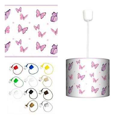 Ceiling Lampshade Lightshade/Chandeliers Cylinder Drum + Light Cable (Butterfly)