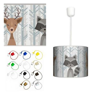 Ceiling Lampshade Lightshade/Chandeliers Cylinder Drum + Light Cable (ANIMALS)