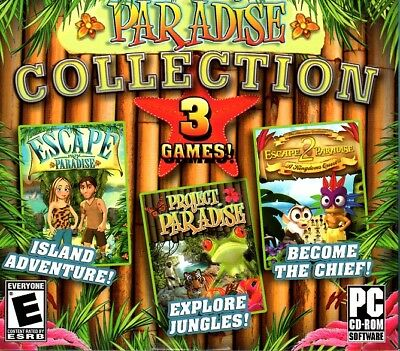 Paradise Collection (3 games!) (PC-CD, 2010) XP/Vista/7 - NEW in Jewel Case