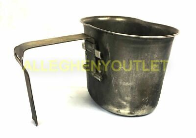 US Military Vintage WWII - Korean War - Vietnam Era Stainless Steel Canteen Cup