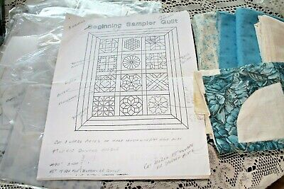 Beginning Sampler Quilt Unfinished Quilt Project Templates Fabric Finished Block
