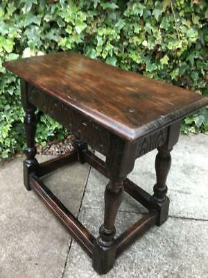 Antique Oak Jointed Stool Table Antique Side Table Occasional Table Circa 1800