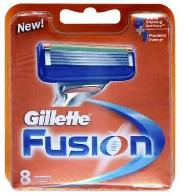 Gillette Fusion New Razor Replacement Blades Cartridges Pack of 8 Razors