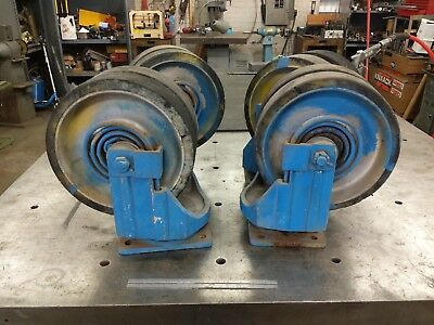 "12"" dual swivel caster wheels heavy duty large suspension spring aluminum huge"