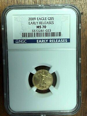 2009 G$5 1/10 oz  AMERICAN GOLD EAGLE - EARLY RELEASE - * NGC MS70 *