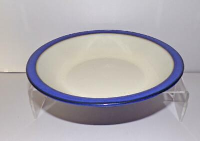 Denby Pottery Imperial Blue Pattern Soup Bowl 21cm Dia Shallow Rim in Stoneware