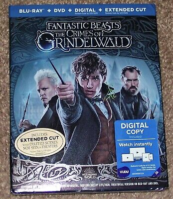 FANTASTIC BEASTS THE CRIMES OF GRINDELWALD - BLU-RAY + DVD + DIGITAL +Extended