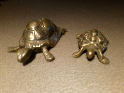 Tortoise Brass Vintage Ornaments - Very Nice Vintage Original