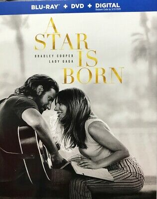 A Star Is Born, 2019 (Blu-Ray + DVD + Digital Copy) New Sealed, Free Shipping