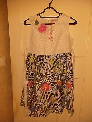 New Girls Multi Colour Summer Dress suit approx Age 11-12. BNWT