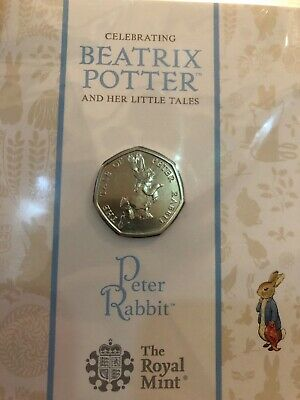 5 x BEATRIX POTTER 2016 50p Pence Uncirculated Coin150th Anniversary Royal Mint