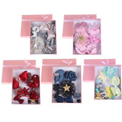 10Pcs/box kids girls bow knot flower hairpin hair clips baby hair accessories