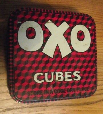Old Oxo Cubes Tin , Splendid For Growing Children , Enrich Soups & Gravys 5X5""