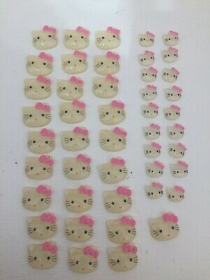 Lot of Resin Hello Kitty Pink Bowknot Hello Kitty Flatback-Great for bows