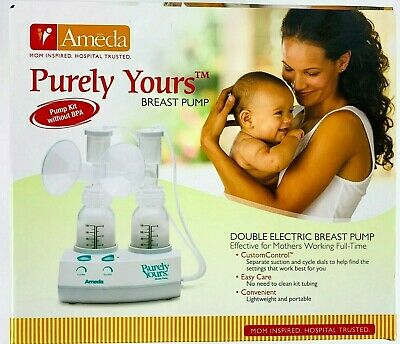 Ameda Purely Yours Breast Pump with 2 Bottles Dual Kit 17070P New Factory Sealed
