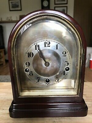 Stunning Mahogany Cased Westminster Chimes Clock Small Proportions