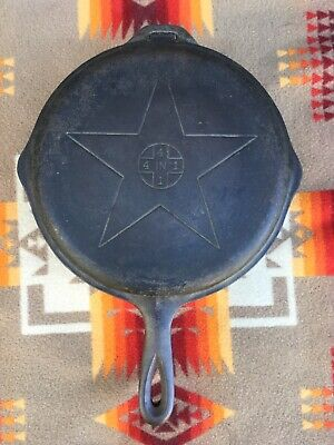 """Lodge Star 4-in-1 No. 8 FS D Cast Iron Hinged Skillet  w Lid Skillet Cover 10"""""""
