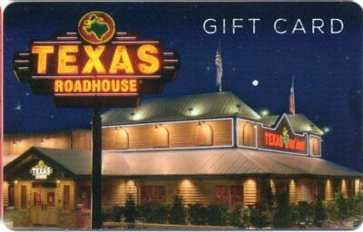 TEXAS ROADHOUSE Gift Card (No Value) NEW DESIGN RESTAURANT AT NIGHT