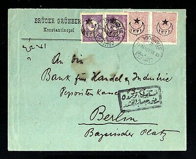 16763-TURKEY-OTTOMAN CENSOR COVER CONSTANTINOPLE to BERLIN (germany) 1917.WWI