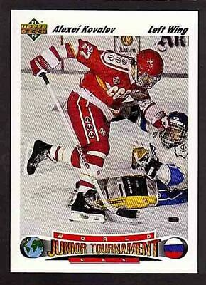 1991-92 Upper Deck #655 ALEXEI KOVALEV RC Rookie CCCP Russia NY Rangers Penguins