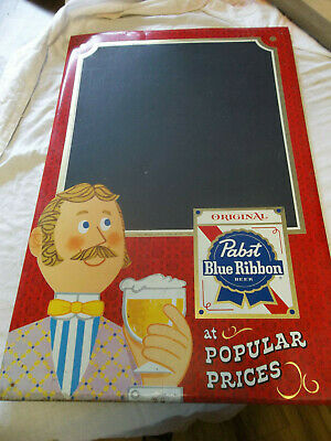 Vintage Pabst Blue Ribbon Beer Toc Tin Chalkboard Sign Milwaukee Wisconsin