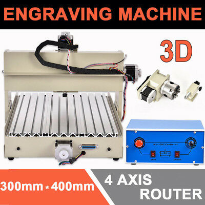 4 AXIS 400W CNC3040 ROUTER ENGRAVER Wood Milling Engraving Drilling Machine TOP