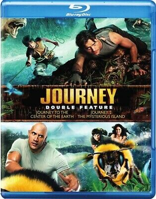 JOURNEY TO THE CENTER OF THE EARTH + JOURNEY 2 THE MYSTERIOUS ISLAND New Blu-ray