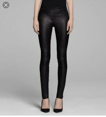 HELMUT LANG Stretch Leather Legging Size US4 AUS 8-10 RRP$1200 EUC
