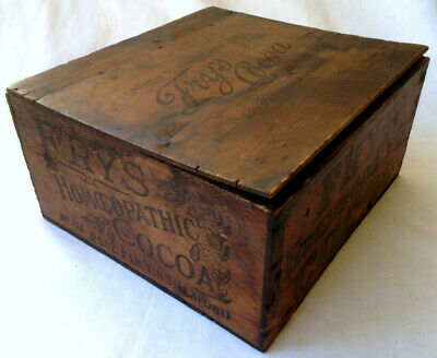 Lovely, Very Old & Rare Fry's Cocoa Wooden Shop Display Box