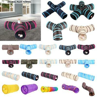 Various Shapes Foldable Pet Cat Tunnel Cute Toys Animal Kitten Rabbit Play Tubes