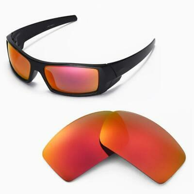 New Walleva Fire Red Polarized Replacement Lenses For Oakley Gascan Sunglasses