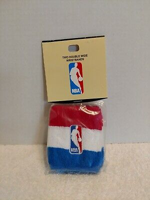 New In Package National Basketball Association NBA Two Double Wide Wristbands