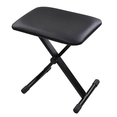 Height Adjustable Piano Keyboard Bench Folding Padded Seat Chair Stool Portable