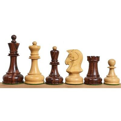 "1970s' Dubrovnik Chess Pieces Only Set- Triple Weighted Rosewood - 3.8"" King"