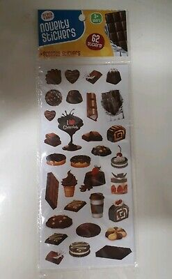 Scratch & Sniff Scented Stickers - Chocolate - 62 Stickers - NEW