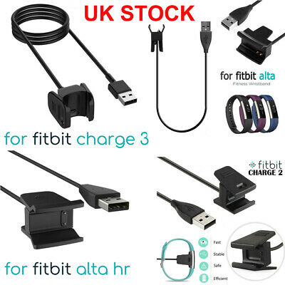 USB Charger Charging Cable Lead for Fitbit Alta HR Charge 2 3 Activity Wristband