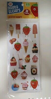 Scratch & Sniff Scented Stickers - Strawberry - 36 Stickers - NEW