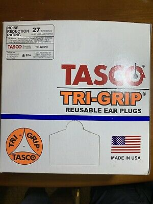 Reusable Flanged Shape 27dB Rated TASCO 9012 Corded Ear Plugs