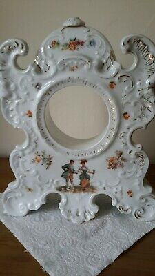 Antique mantel porcelain clock case