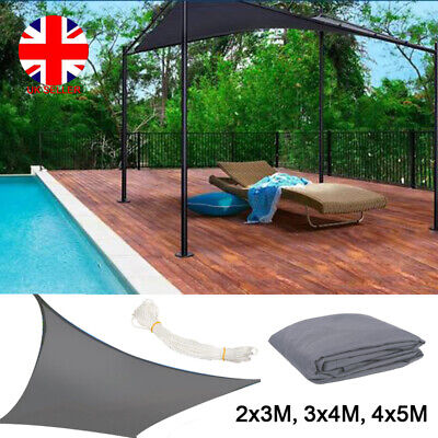 Rectangle Outdoor Garden Patio Sun Shade Sail Canopy Awning 98% UV Swimming Pool